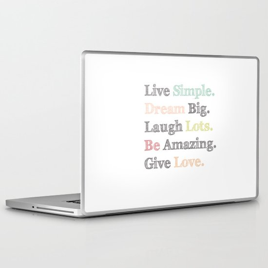 Inspiration Typography Quote Words Pastel  Laptop & iPad Skin