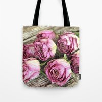 Dried Pink Roses Tote Bag