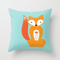 Ferdinand the Fox Throw Pillow