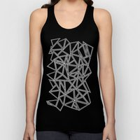 Abstract New White On Bl… Unisex Tank Top