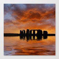 Stonehenge Sunrise, Wiltshire Canvas Print