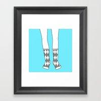 Socks For The Mr. Framed Art Print