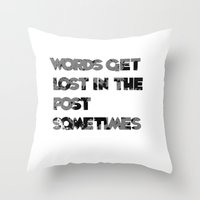 words. Throw Pillow