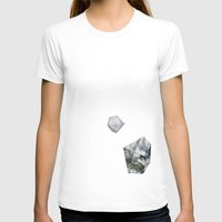 Alaska From Above Womens Fitted Tee White SMALL