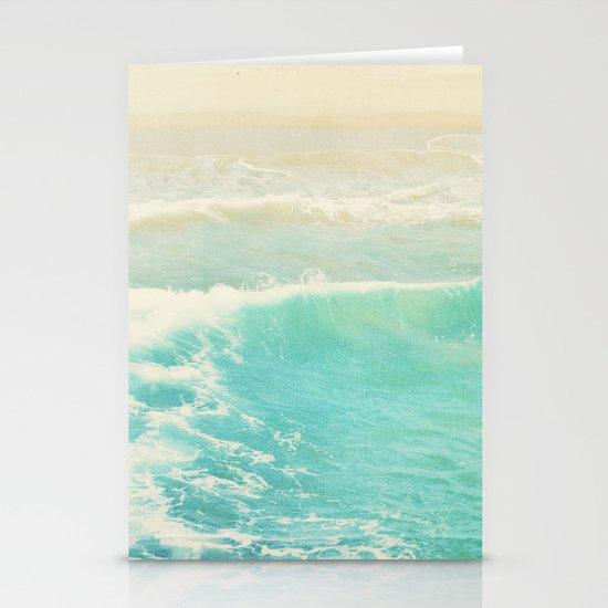beach ocean wave. Surge. Hermosa Beach photograph Stationery Card