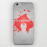 be a gentleman iPhone & iPod Skin
