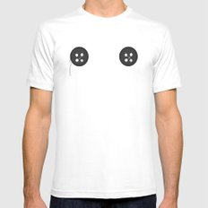 Coraline White SMALL Mens Fitted Tee