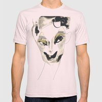a faint smile Mens Fitted Tee Light Pink SMALL