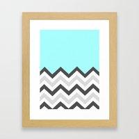 Color Blocked Chevron 16 Framed Art Print