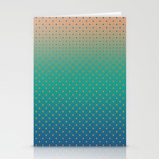 Polka Plankton Blue Stationery Card