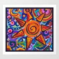 Painted Star Art Print