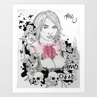 Odi et amo Art Print