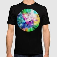 Colorful Tie Dye Abstract Mens Fitted Tee Black SMALL