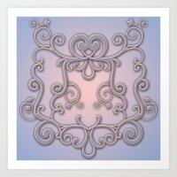 Rose Quartz Serenity Enb… Art Print