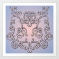 Rose Quartz Serenity Enblem Art Print