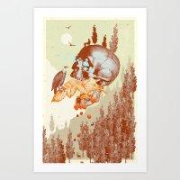 RASPBERRY MOUNTAIN Art Print