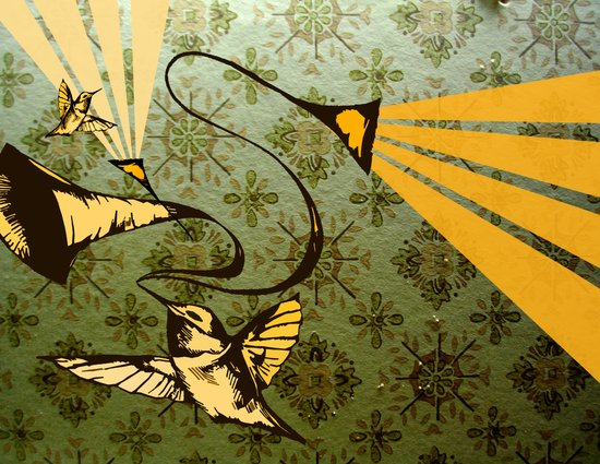analog zine - song bird Art Print