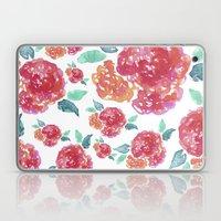Pastel Spring Flowers Watercolor Laptop & iPad Skin