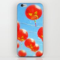Red Lanterns iPhone & iPod Skin