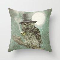 Night Smoke (Color Optio… Throw Pillow