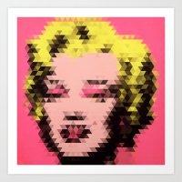 Marilyn - Triangles Art Print