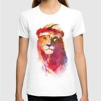 lion T-shirts featuring Gym Lion by Robert Farkas