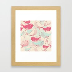 Whale ReUnion Framed Art Print