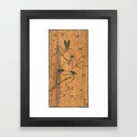 Cute little animal on wood Framed Art Print