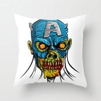 Zombie America Throw Pillow