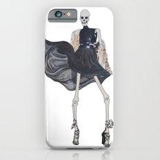 skeleton in leather & fur iPhone 6s Slim Case