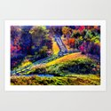 Stepping into the Woods Art Print