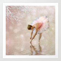 Dancer in Water Art Print