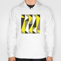 Yellow & black triangle pattern Hoody