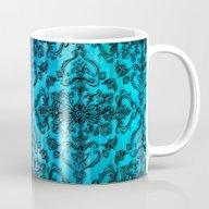 Black Filigree Pattern O… Mug