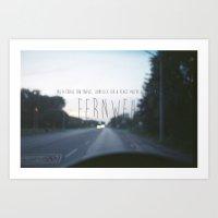 Fernweh Art Print