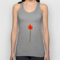Red Tulip Unisex Tank Top