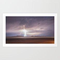 Lightning Strike, Black Rock Desert, NV Art Print