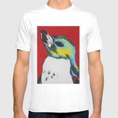 Penguin White SMALL Mens Fitted Tee