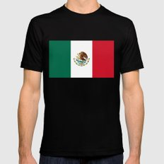 The Mexican national flag - Authentic high quality file SMALL Mens Fitted Tee Black