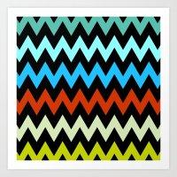 Zigzag #14 Art Print