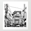 Yokohama - China town Art Print