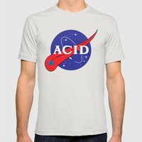 ACID (FOR A FRAN) Mens Fitted Tee Silver SMALL