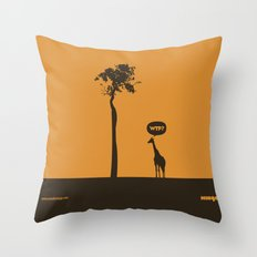 WTF? Jirafa! Throw Pillow