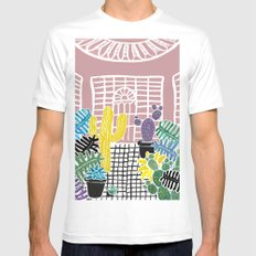 Cacti & Succulent Greenhouse Mens Fitted Tee White SMALL