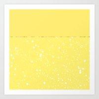 XVI - Yellow Art Print