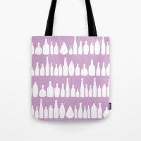 Bottles Pink Tote Bag