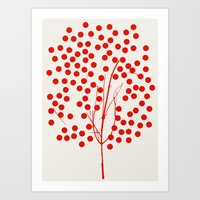 Tree of Life Red Art Print