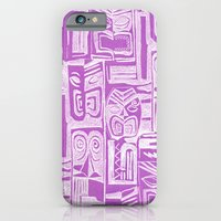 iPhone & iPod Case featuring tribal pattern in lilac by Marianna Tankelevich