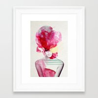Framed Art Prints featuring Bright Pink - Part 2  by Jenny Liz Rome