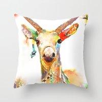 Deer (H)art Throw Pillow